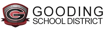 Gooding School District Logo with Words