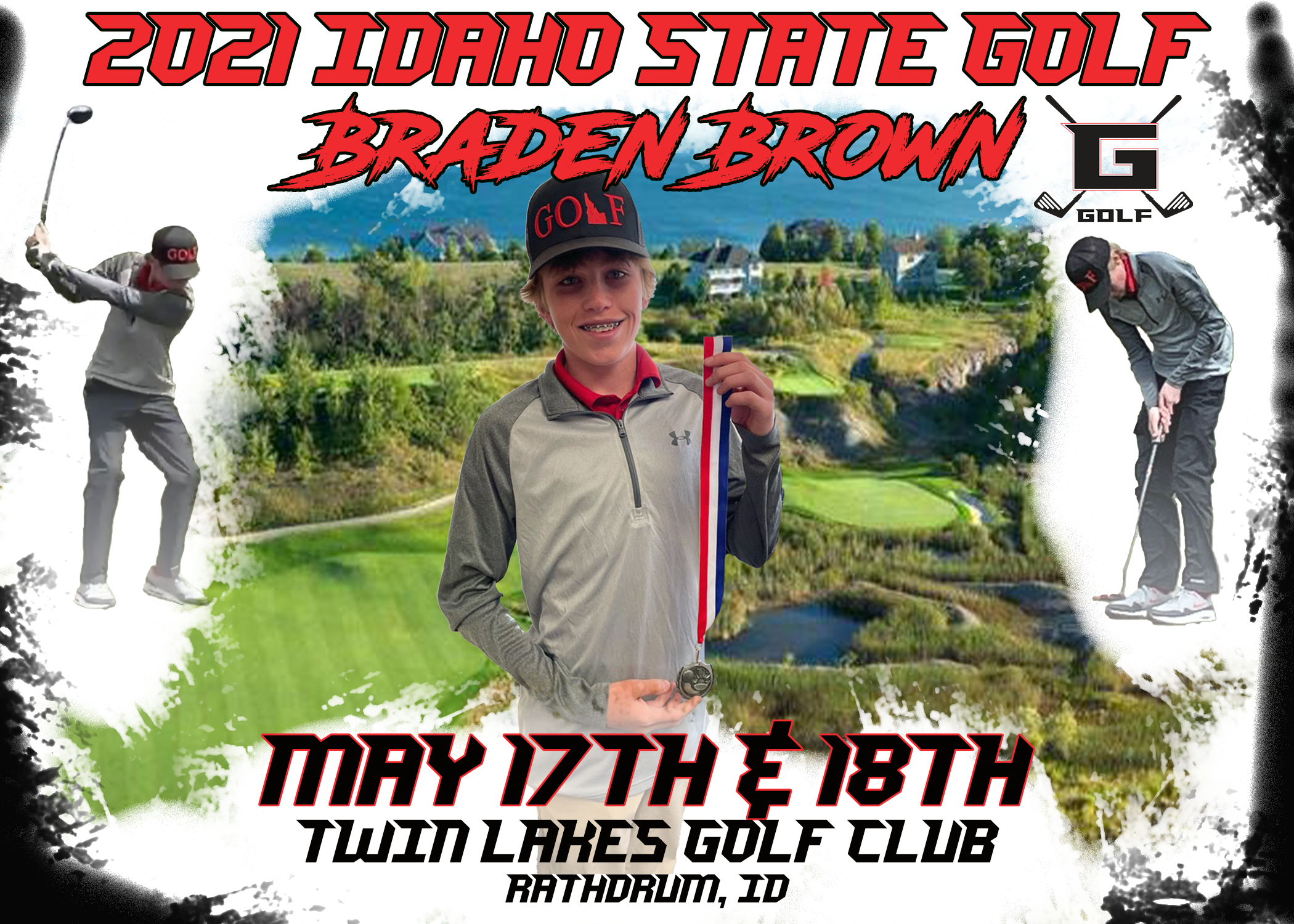 Braden Brown Image to State Golf Tournament 2021