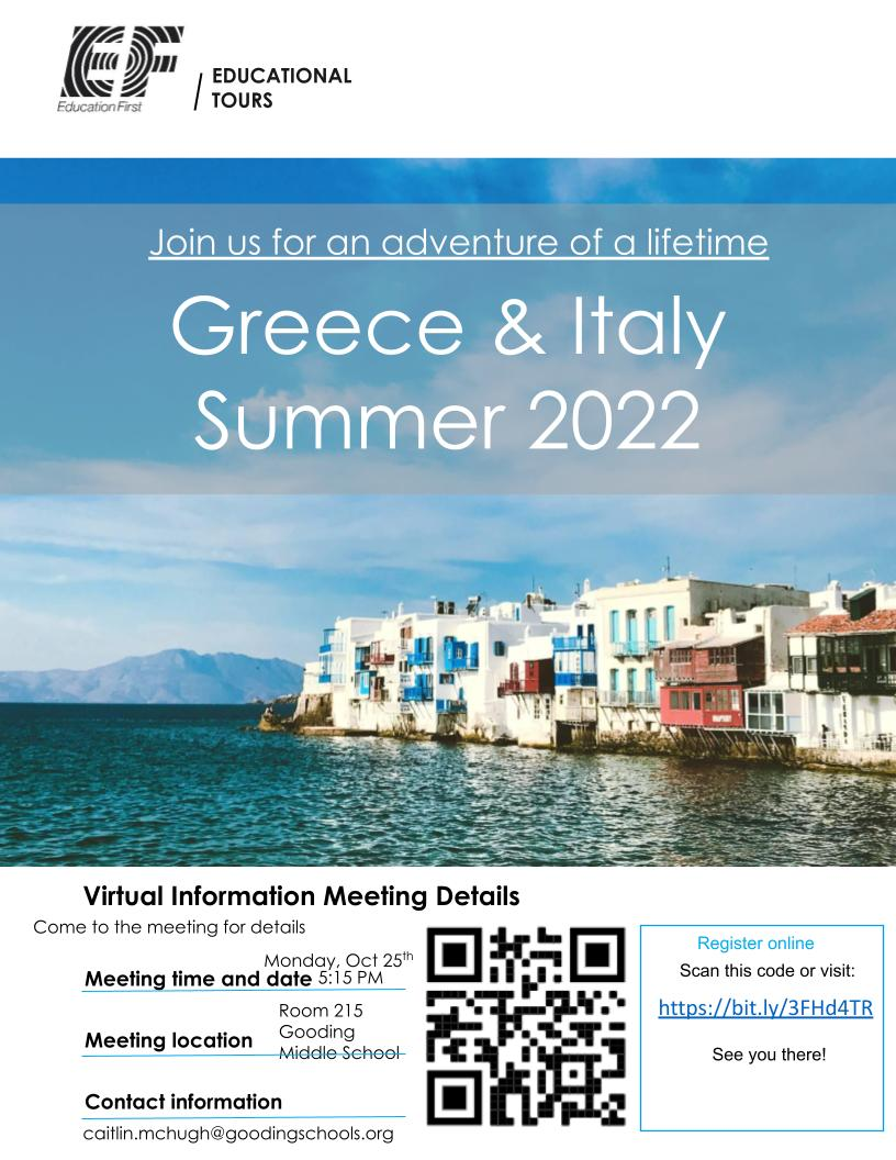 Poster for Trip to Greece and Italy